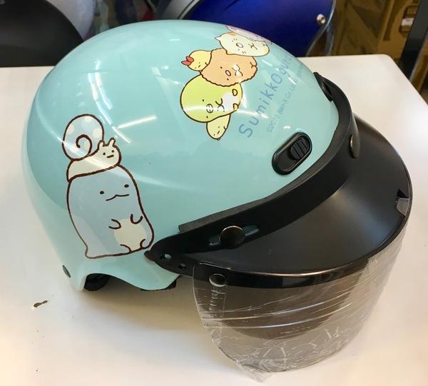兒童安全帽,角落生物安全帽,K-822,K-823,角落#2(蜥蜴)/藍綠