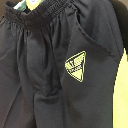 ☆棒棒糖童裝☆(271075)夏男大童鬆緊腰螢光+夜光綠邊短褲  120-170