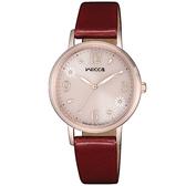 【台南 時代鐘錶 CITIZEN】星辰 Wicca 公主系列 廣告款 台灣限定 太陽能腕錶 KP5-166-90 玫瑰金 30.2mm