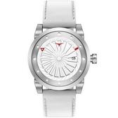 【台南 時代鐘錶 ZINVO】BLADE MAGIC 前衛設計強烈風格手錶 機械錶 皮帶 銀白 44mm 公司貨保固兩年