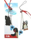 【卡漫城】 企鵝 家族 擦拭布 手機吊飾 ㊣版 Pingu 絨布 掛飾 螢幕清潔 PVC