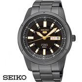 SEIKO 精工5號黑金三針黑鋼機械男錶・星期日期顯示 7S26-04A0SD SNKN17J1・公司貨|名人鐘錶高雄門市