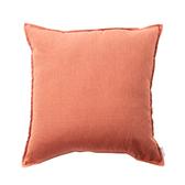 HOLA 新素色織紋抱枕60x60cm 橘紅色