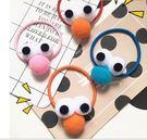 韓系超可愛韓國卡通原宿立體眼睛髮圈‧4色一組/G013
