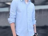 襯衫   長袖襯衫男士秋加厚青年寸衫休閒修身韓版加絨保暖潮流襯衣  瑪麗蘇