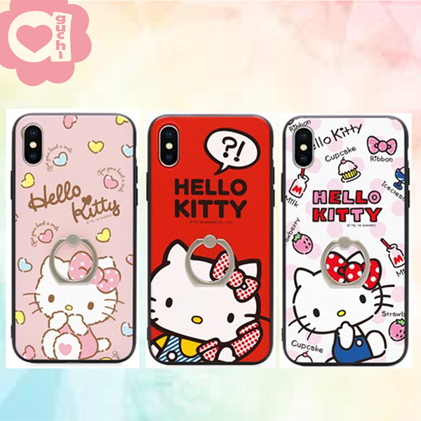 Sanrio 正版授權 Hello Kitty 凱蒂貓 iPhone 7/8/SE 2020 (4.7 吋) 雙料指環殼/手機殼/保護套