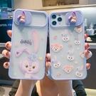 磨砂膚感適用于蘋果12Promax手機殼11推拉窗全包8plus卡通可愛iphoneXR pinkq時尚女裝