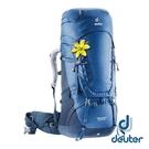 【德國 deuter】AIRCONTACT 拔熱透氣背包 50+10SL『深藍』3320219 大背包 背包客 渡假打工