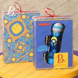 美國B.Toys感統玩具 卡拉OK麥克風(藍)(橘)