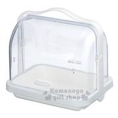 〔小禮堂〕INOMATA 日製透明掀蓋手提收納盒《白.綠盒裝》廚房收納 4905596-00996