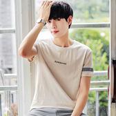 夏裝男士短袖t恤正韓學生打底衫圓領半袖青少年體恤潮男裝上衣服