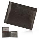Calvin Klein荔枝紋皮革可拆式證件RFID防盜短夾禮盒(咖啡色)103018-1