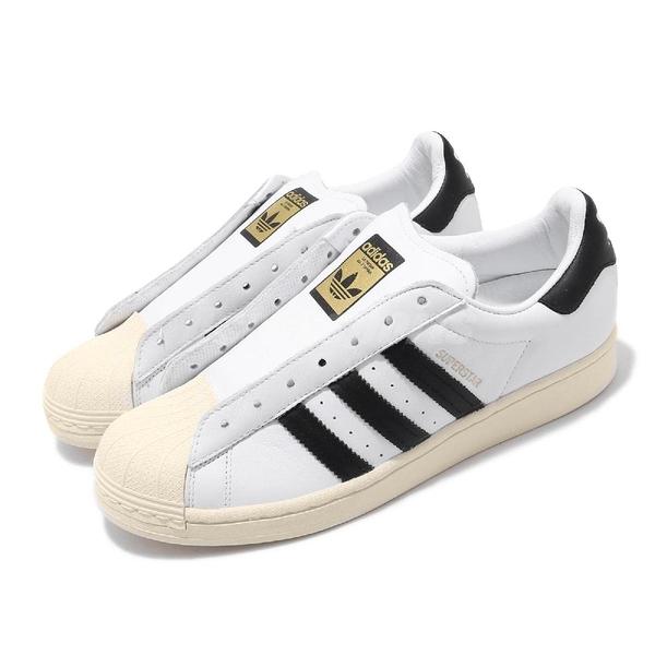 【六折特賣】adidas 休閒鞋 Superstar Laceless 白 黑 男鞋 女鞋 運動鞋 無鞋帶設計 【ACS】 FV3017