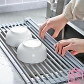 瀝水架水槽碗架可折疊碗碟收納架廚房置物架瀝水籃【匯美優品】