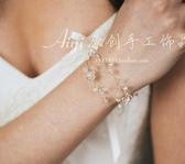 純手工定制小清新新娘伴娘森繫水晶手環飾手鐲手鍊超級爆品