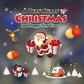 圣誕櫥窗貼紙圣誕裝飾墻貼畫鈴鐺雪花靜電貼玻璃門貼圣誕節裝飾【快速出貨】