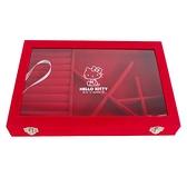小禮堂 Hello Kitty 方形麂皮珠寶盒 (紅色款) 5983164-79708