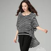新款潮夏裝加大碼女裝200斤胖mm胖妹妹寬鬆雪紡上衣韓版T恤潮 『夢娜麗莎精品館』