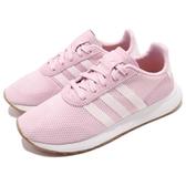 【五折特賣】adidas 休閒鞋 FLB_Runner W 粉紅 白 女鞋 膠底 Flashback 運動鞋【PUMP306】 DB2119