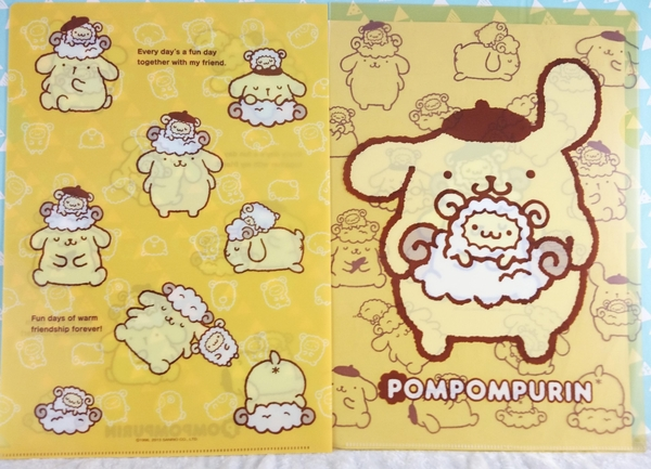 【震撼精品百貨】Pom Pom Purin 布丁狗~資料夾_綿羊_2入