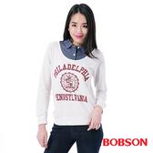 BOBSON    女款仿兩件式上衣(35128-81)