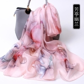 杭州絲綢絲巾女100%桑蠶絲紗巾百搭夏天夏季薄款媽媽真絲圍巾披肩