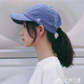 純色棒球帽個性美式復古軟頂日系遮陽男女鴨舌帽子 三角衣櫃