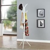 M-溢彩年華時尚創意衣帽架鐵藝架客廳落地彩色掛衣架衣服架(白色)【首圖款】