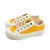 KANGOL 休閒鞋 帆布鞋 女鞋 黃色 6052200363 no142