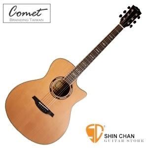 【缺貨】Comet C-480(附贈多樣配件)木吉他 指板鑲貝 紅杉木單板 木吉他 / 民謠吉他