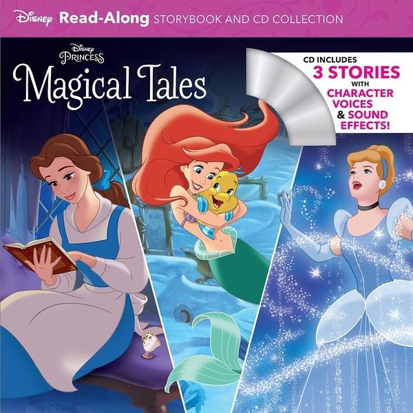 【麥克書店】DISNEY PRINCESS MAGICAL TALES /英文繪本附CD ‧聽迪士尼說故事 (內含三個故事)