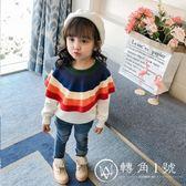 女童秋裝加絨毛衣2018新款小童裝毛衫兒童針織衫套頭純棉寶寶上衣