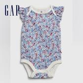 Gap女嬰童趣印花信封領連體衣580511-藍色碎花