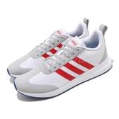 【海外限定】adidas 休閒鞋 Run60S 白 紅 男鞋 復古 運動鞋 【PUMP306】 EE9728
