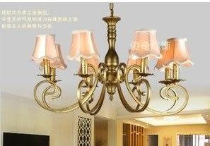 設計師美術精品館歐式簡約豪華燈鐵藝8頭吊燈具客廳臥室燈餐廳特價燈飾特價燈具