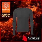 【North Field美國 男 圓領遠外線內衣《炭灰》】109T/保暖衣/發熱衣/膠原蛋白/吸濕排汗/親膚