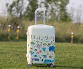 卡通新款彩虹圖案鏡面行李拉桿旅行箱萬向輪密碼登機箱20寸24寸女