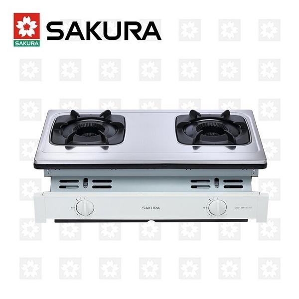 櫻花牌 SAKURA 雙內焰安全嵌入爐 G-6513S 限北北基安裝配送 (不含林口 三峽 鶯歌)