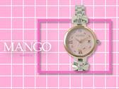 【時間道】MANGO時尚俏麗仕女腕錶 /粉紅貝殼面蝴蝶結鋼帶(MA6727L-11)免運費