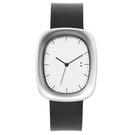 【萬年鐘錶】10:10 BY NENDO Window 001 機窗系列 銀框/黑皮 錶徑31MM