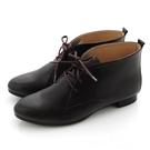 全真皮經典綁帶德比短靴-深咖啡色‧karine(MIT台灣製)