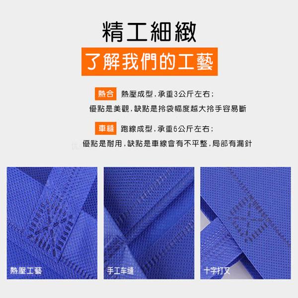 不織布袋 客製化 平口袋(大號) 無底無側 環保袋 手提袋 購物袋 禮贈品 飲料袋 提袋【塔克】