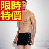 四角泳褲-溫泉簡約潮流新款男平口褲56d21[時尚巴黎]