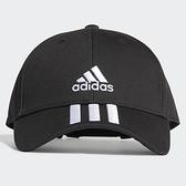 ADIDAS 3-STRIPES 帽子 老帽 休閒 三條線 基本款 黑【運動世界】FK0894