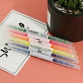雙頭 螢光筆 粗細頭 重點筆 記號筆 文具 水性筆 生筆 塗鴉筆 雙頭螢光筆【M175】慢思行