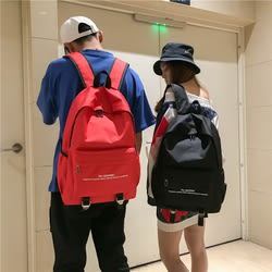 雙肩包女韓版潮時尚百搭PU軟皮大容量學生背包男情侶休閒旅行書包   東川崎町