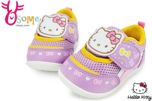 Hello kitty小童學步鞋 台灣製 柔軟透氣運動鞋G7921#紫◆OSOME奧森童鞋/小朋友