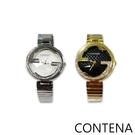 CONTENA 新款帶鑽時尚小淑女手錶兩色-6691ZF