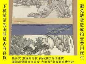 二手書博民逛書店chinese罕見landscape Paintings by Shen Zhou I、II 沈周山水畫 1、2(