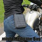哈雷掛包 日本might 手工  菱格紋鑽石縫線  騎士 美式 腰包  菱格車線 小腰包 MMB-883-B